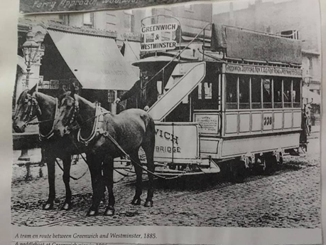 Horse Tram 1885. Greenwich & Westminster via Old Kent Road.   X.png
