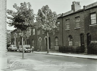 Kintore Street, Bermondsey c1967. Kintore Street no longer exist, it used to run from Fort Road to Willow Grove, which is no longer there.   X.png