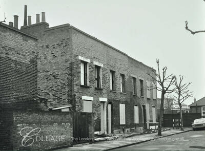 Kintore Street, Bermondsey No.2-8. The houses and Kintore Street no longer exist c1967.  X.png