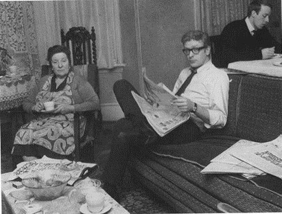 Michael Caine (centre) with is mum and brother, at home in Bermondsey 1964. 1  X.jpg