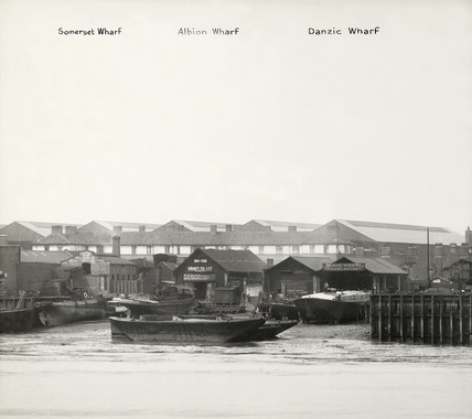 Rotherhithe Street, Somerset Wharf, Albion Wharf and Danzic Wharf, 1937.  X.png