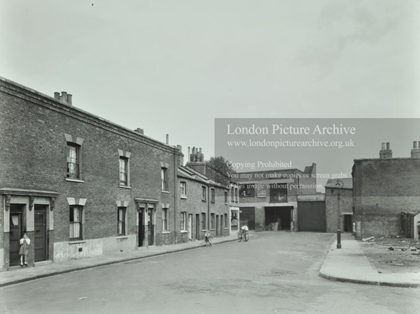 Clare Hall Place, Bermondsey c1955, near Southwark Park Road and is no longer there.  X.png