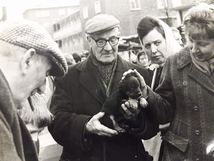 East Lane puppy stall c1954. X.png