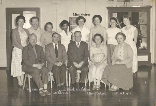 Surrey Square School, Head and staff 1958-9.   X.png